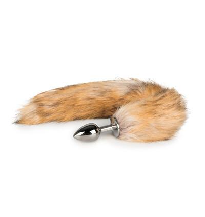Easy Toys Fox tail 05 - Korek analny z ogonkiem, Jasnobrązowy