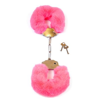 Fetish Fantasy Furry CuPink - Kajdanki z futerkiem, różowe