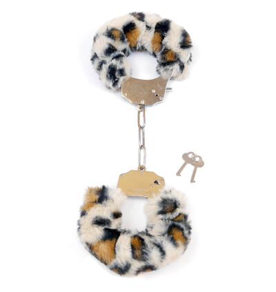 Fetish Fantasy Furry CuLeopard - Kajdanki z futerkiem, m. zwierzęcy