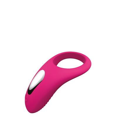 Dream Toys Pierścień Couples Enhancer Magenta - Wibrujący pierścień na penisa