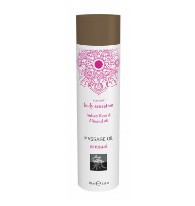 HOT Sensual Indian Rose & Almond Oil 100Ml. - Olejek do masażu
