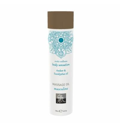HOT Shiatsu Massage Oil Amber & Eucalyptus Oil 100Ml. - Olejek do masażu