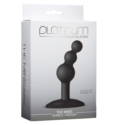Doc Johnson Platinum The Minis Bubble Black M - Koraliki analne