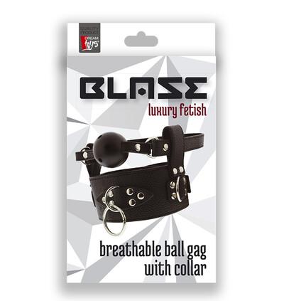 Dream Toys Breathable Ball Gag With Collar - Knebel z kulką i obrożą