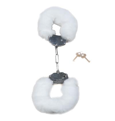 Fetish Fantasy Furry CuWhite - Kajdanki z futerkiem, białe