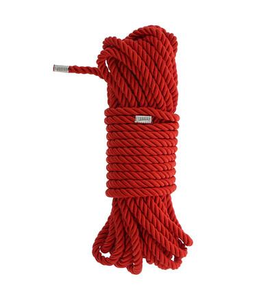 Dream Toys Blaze Deluxe Bondage Rope 10M Red - Lina do krępowania, czzerwona