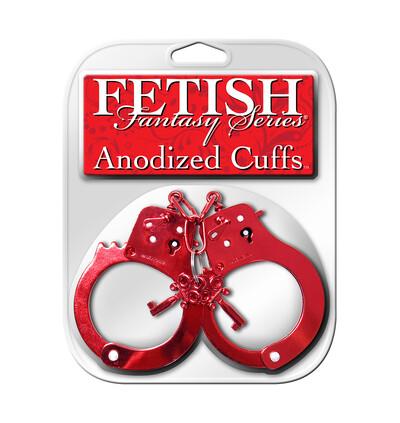 Fetish Fantasy Anodized CuRed - Kajdanki, czerwone