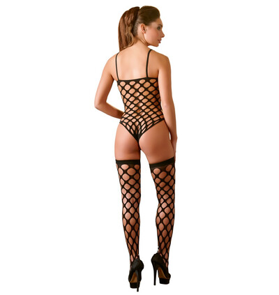 Mandy Mystery lingerie Body And Stockings S-L - komplet, czarne