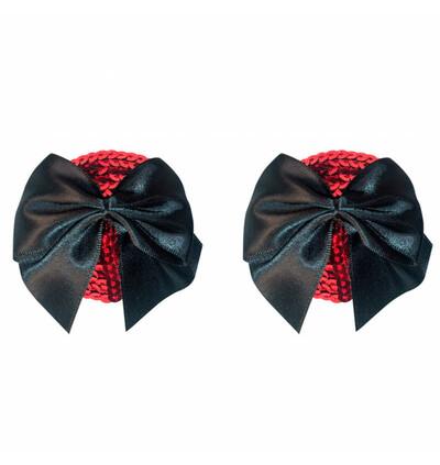 Lola Games Pasties Burlesque Blaze Black - Nasutniki, czarne