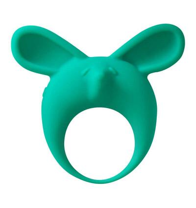 Lola Games Mimi Animals Fennec Phil Green - Wibrujący pierścień na penisa, zielony