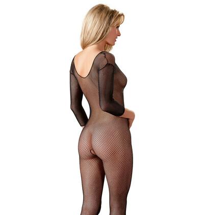 Mandy Mystery lingerie Net Catsuit Black S-L - bodystocking, czarne