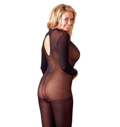 Mandy Mystery lingerie Catsuit Ouv.Xl/2Xl - bodystocking, czarne