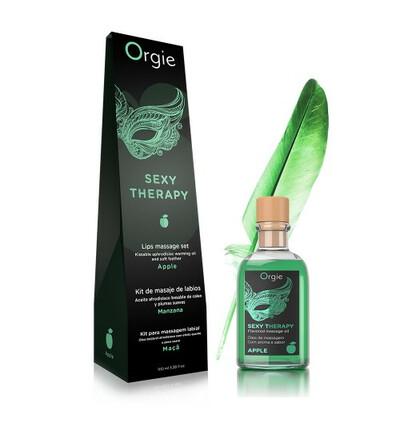 Orgie Lips Massage Kit Apple 100 Ml - Zestaw do masażu ust