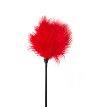 Lola Games Tickler Party Hard Nightfall Red - Piórko do łaskotania, czerwone