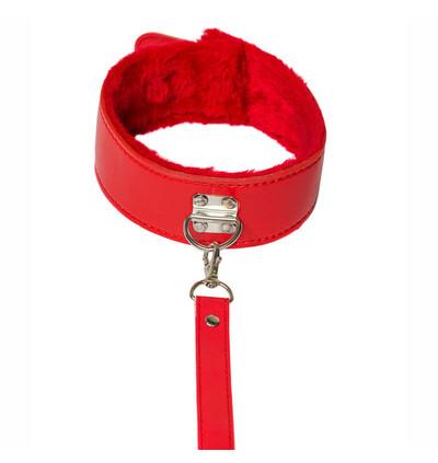 Lola Games The Collar Party Hard Circus Red - Obroża ze smyczą, czerwona
