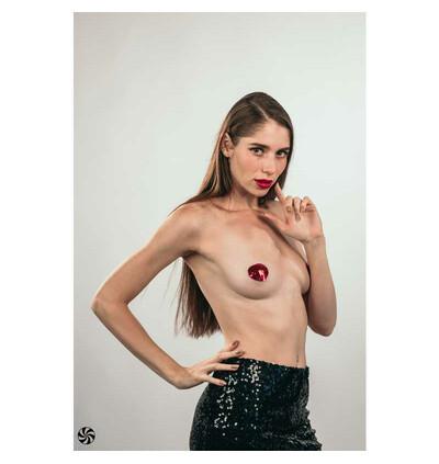 Lola Games Pasties Burlesque Rand Red - Nasutniki, czerwone