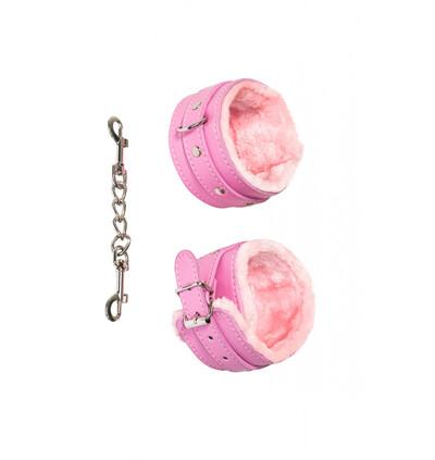 Lola Games Ankle Cuffs Party Hard Eternity Pink - Kajdanki do kostek, różowe