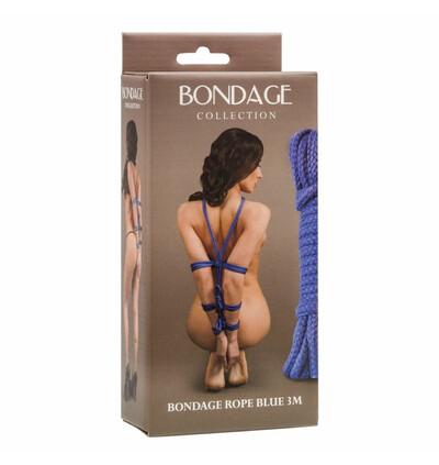 Lola Toys Rope Bondage Collection Blue 3M - Lina do krępowania, niebieska