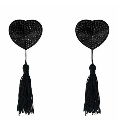 Lola Games Pasties Burlesque Evans Black - Nasutniki, czarne