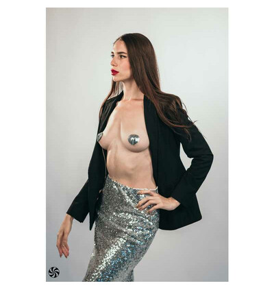 Lola Games Pasties Burlesque Rand Silver - Nasutniki, srebrne