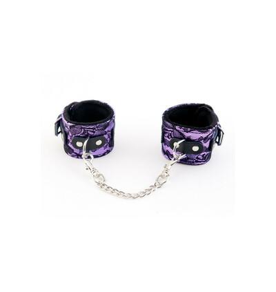 Toyfa Hand Cuffs With Metal Chain Tracery Purple - Kajdanki