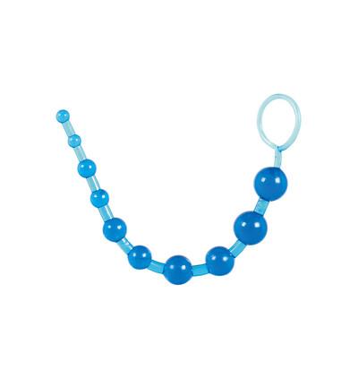 ToyJoy Thai Toy Beads Blue - Koraliki analne, niebieskie