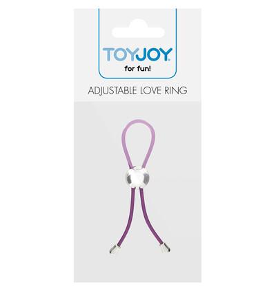 ToyJoy Adjustable Love Ring Purple - Regulowany pierścień, lasso na penisa