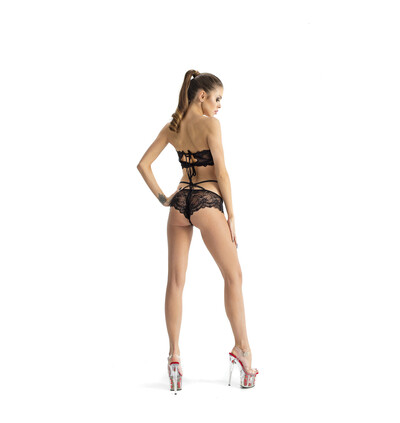 Roxie Luve Top Figi Os-2 Style - Komplet, Czarny