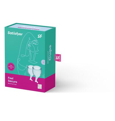 Satisfyer Feel Secure Menstrual Cup (Light Blue) - Kubeczki menstruacyjne