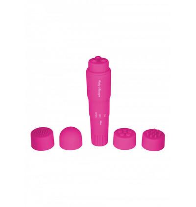 ToyJoy Funky Massager Violet - Wibrator łechtaczkowy z różnymi końcówkami, Różowy
