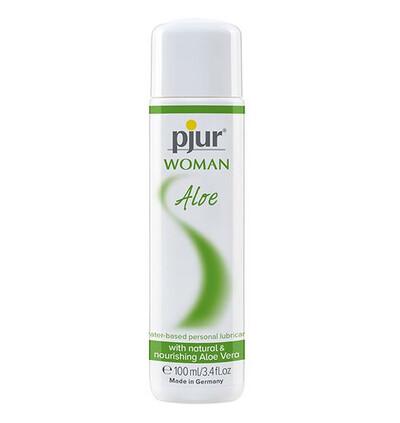 Pjur Woman Aloe 100Ml Waterbased Lubricant - Lubrykant z aloesem na bazie wody
