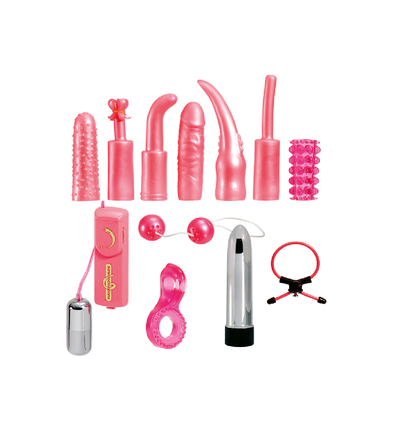 Seven Creations Dirty Dozen Sex Toy Kit Pink - Zestaw gadżetów
