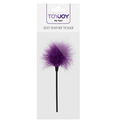 ToyJoy Sexy Feather Tickler Purple - Piórko do łaskotania, fioletowe