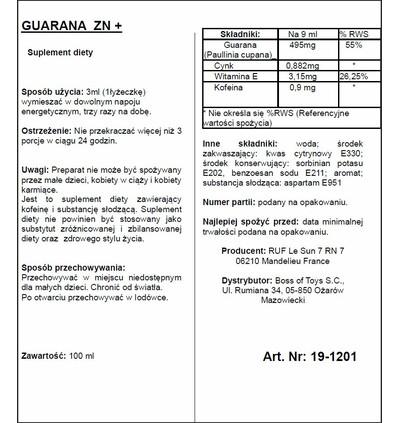 RUF Aphrodict Guarana Zn + 100 Ml - Krople wzmacniające dla Panów