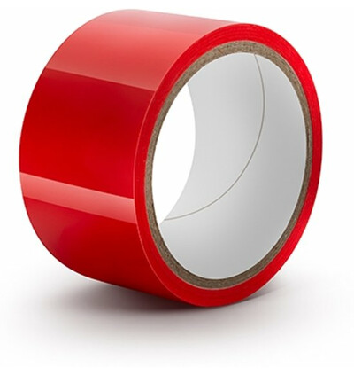 Power Escorts Bondage Tape 15 Meter Red - Taśma do krępowania