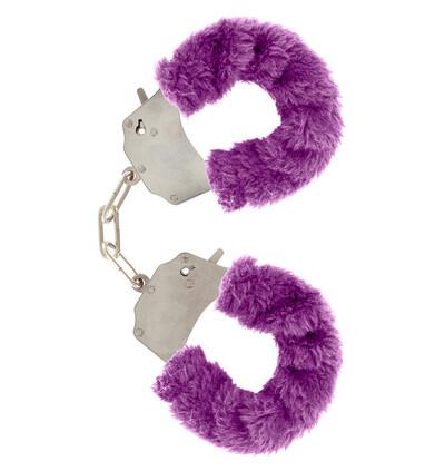 ToyJoy Furry Fun Cuffs Purple Plush - Kajdanki z futerkiem, fioletowe