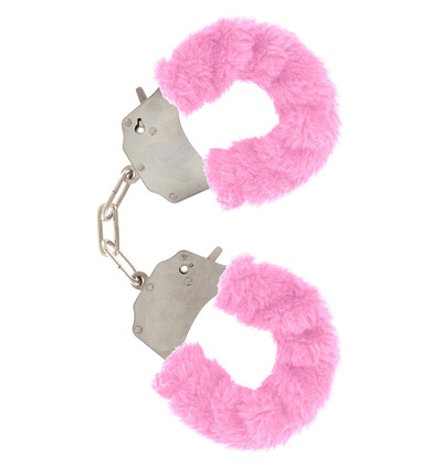 ToyJoy Furry Fun Cuffs Pink Plush - Kajdanki z futerkiem, różowe