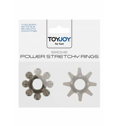 ToyJoy Power Stretchy Rings Smoke 2Pcs - Zestaw elastycznych pierścieni erekcyjnych