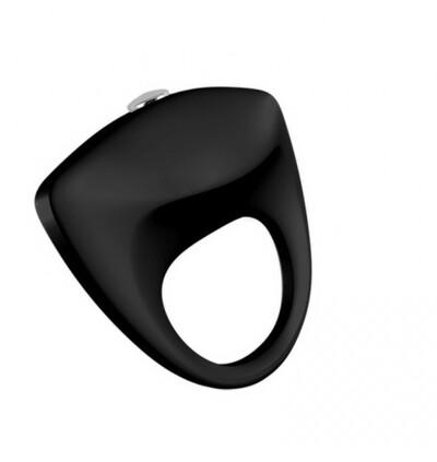 Power Escorts Turbo 02 Black Vibratinging Cockring - Wibrujący pierścień erekcyjny