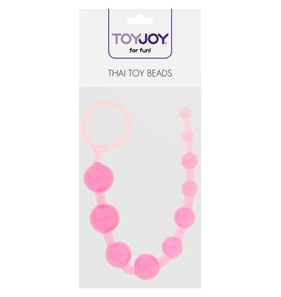 ToyJoy Thai Toy Beads Pink - Koraliki analne, różowe