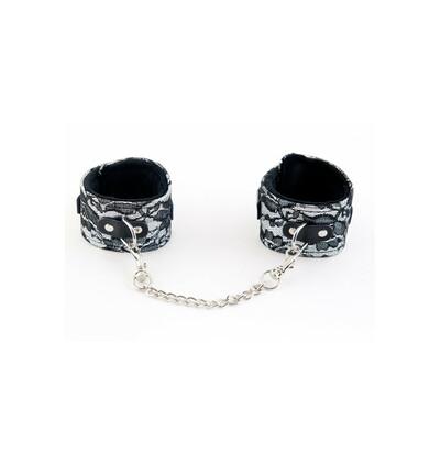 Toyfa Ankle Cuffs With Metal Chain Tracery Silver - Kajdanki