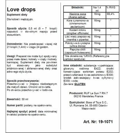 RUF Love Drops 20 Ml - Krople na libido