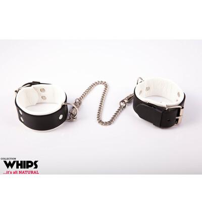 Whips Collection - Kajdanki Męskie Na Ręce Białe
