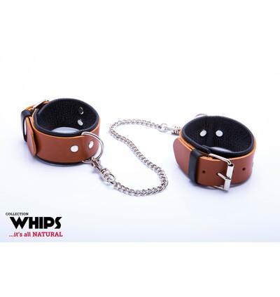 Whips Collection - Kajdanki Męskie Soft, Koniakowe