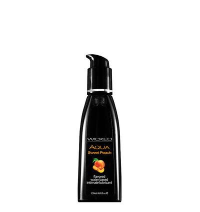 Wicked Aqua Sweet Peach 120Ml - Lubrykant na bazie wody, o smaku brzoskwiniowym
