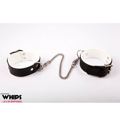 Whips Collection - Kajdanki Męskie Na Nogi, Białe