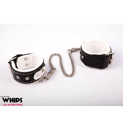 Whips Collection - Kajdanki Damskie Na Ręce Białe
