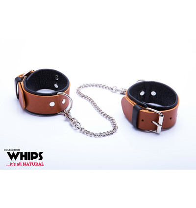 Whips Collection - Kajdanki Damskie Na Nogi, Koniakowe