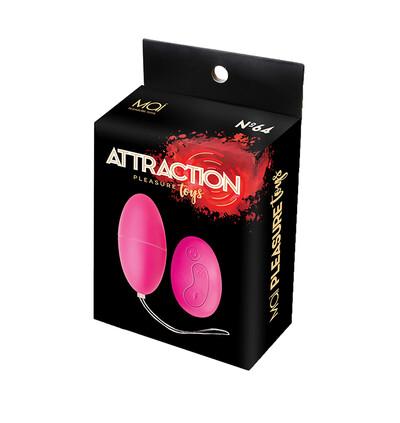 Wibr-Mai No.64 Remote Control Egg Pink - wibrująca kulka, różowa