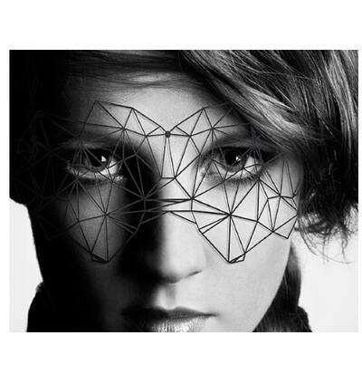 Bijoux Indiscrets ozdobna maska na oczy - Kristine - czarny